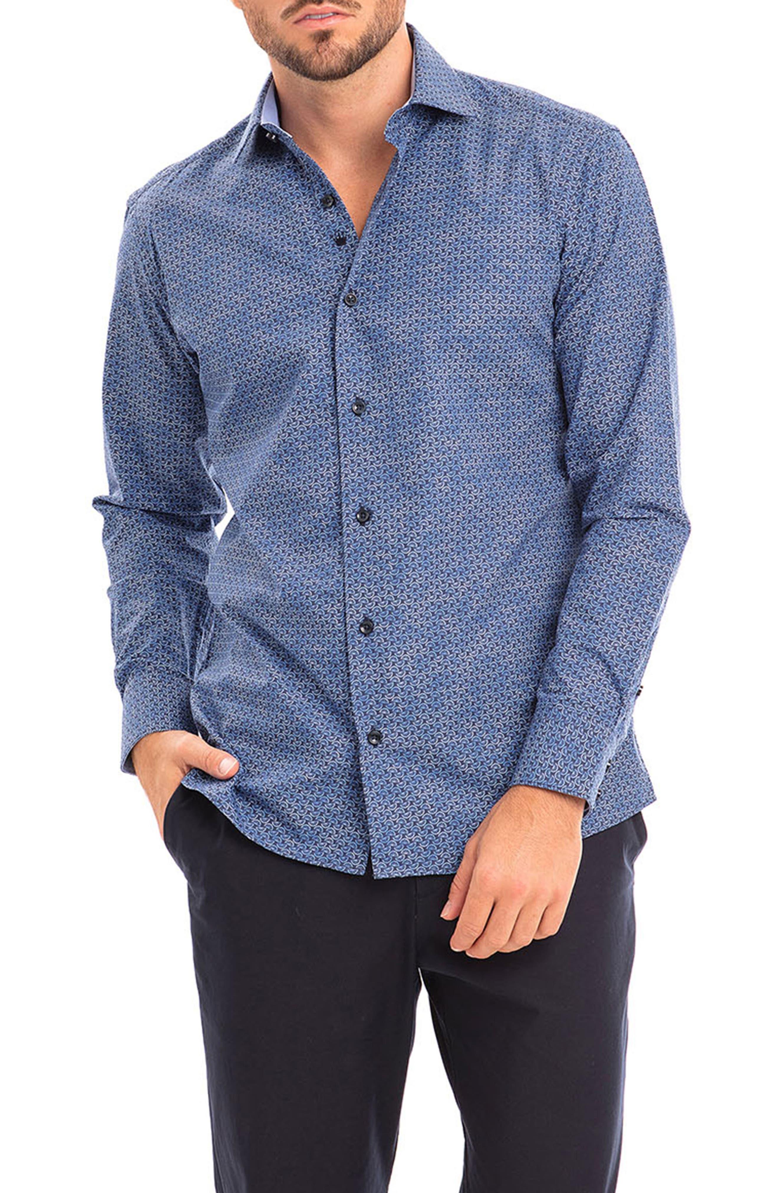 Rivaldo Slim Fit Geometric Button-Up Shirt
