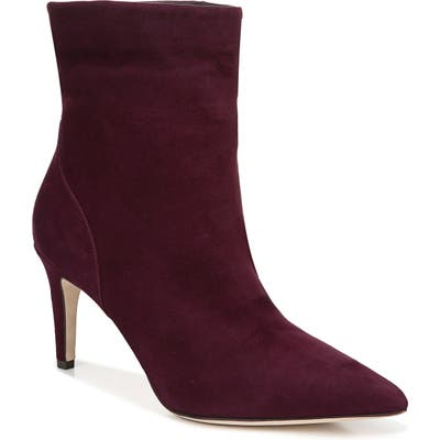 Via Spiga Giulia Pointed Toe Bootie, Burgundy