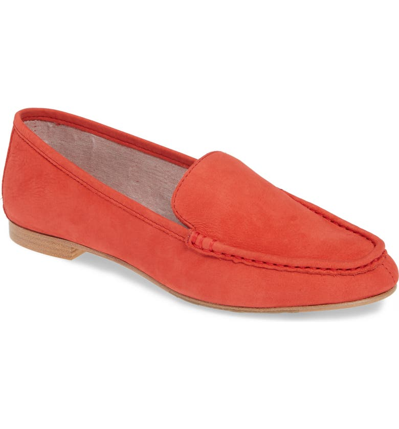 TARYN ROSE COLLECTION Diana Loafer, Main, color, GERANIUM NUBUCK LEATHER