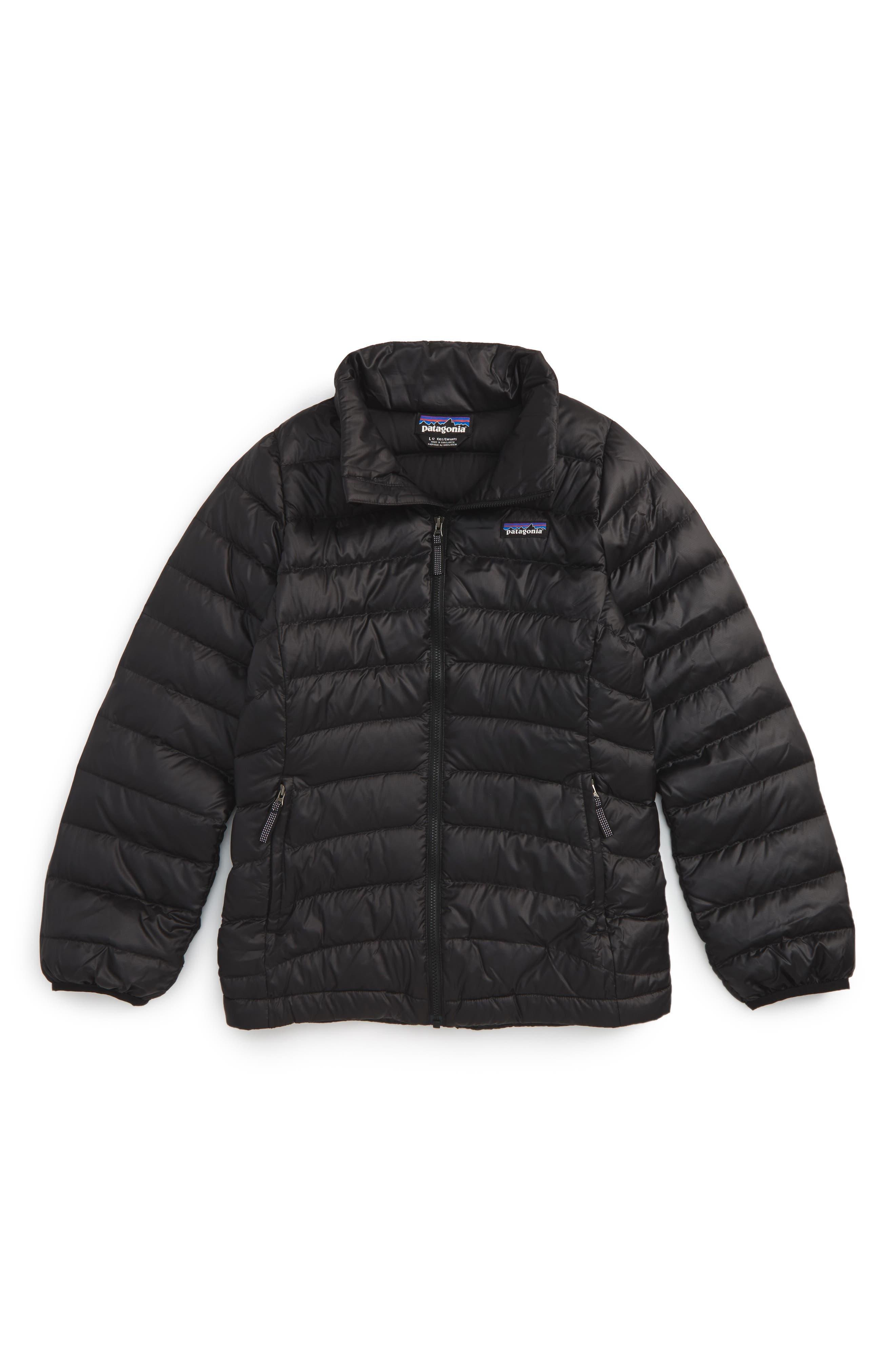 Girls Patagonia Down Jacket Size M (10)  Black