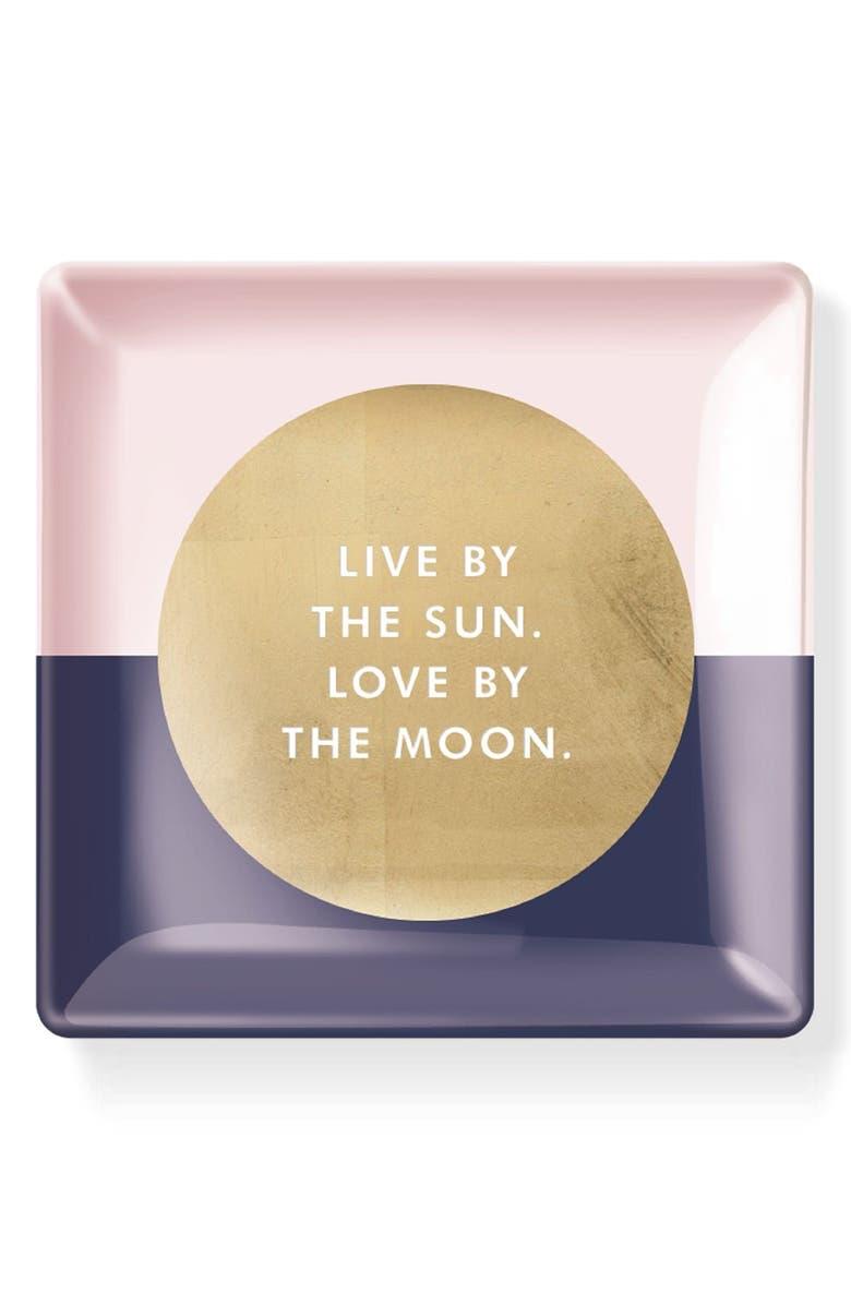 FRINGE STUDIO 'Live By The Sun' Decorative Glass Tray, Main, color, 710
