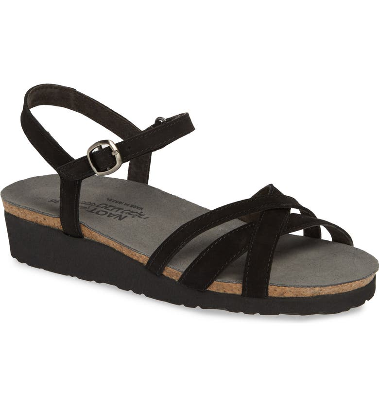 NAOT Brittany Sandal, Main, color, BLACK VELVET