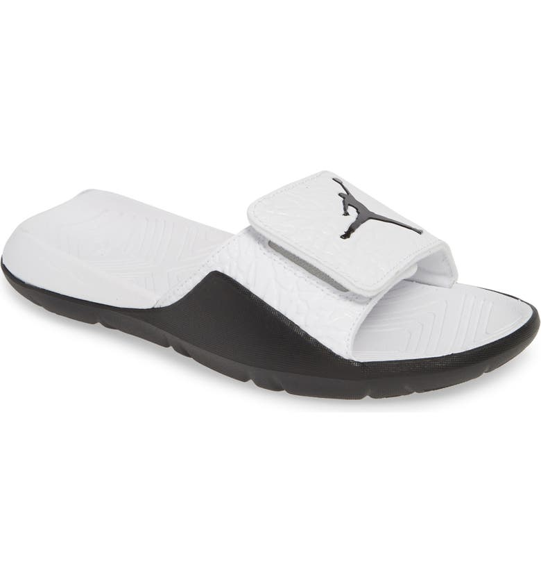 JORDAN Hydro 7 V2 Sandal, Main, color, WHITE/ BLACK