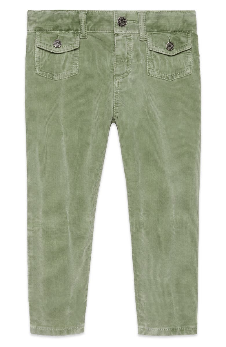 GUCCI Corduroy Pants, Main, color, SAGE