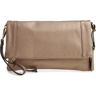Sole Society Marlena Faux Leather Clutch - Brown