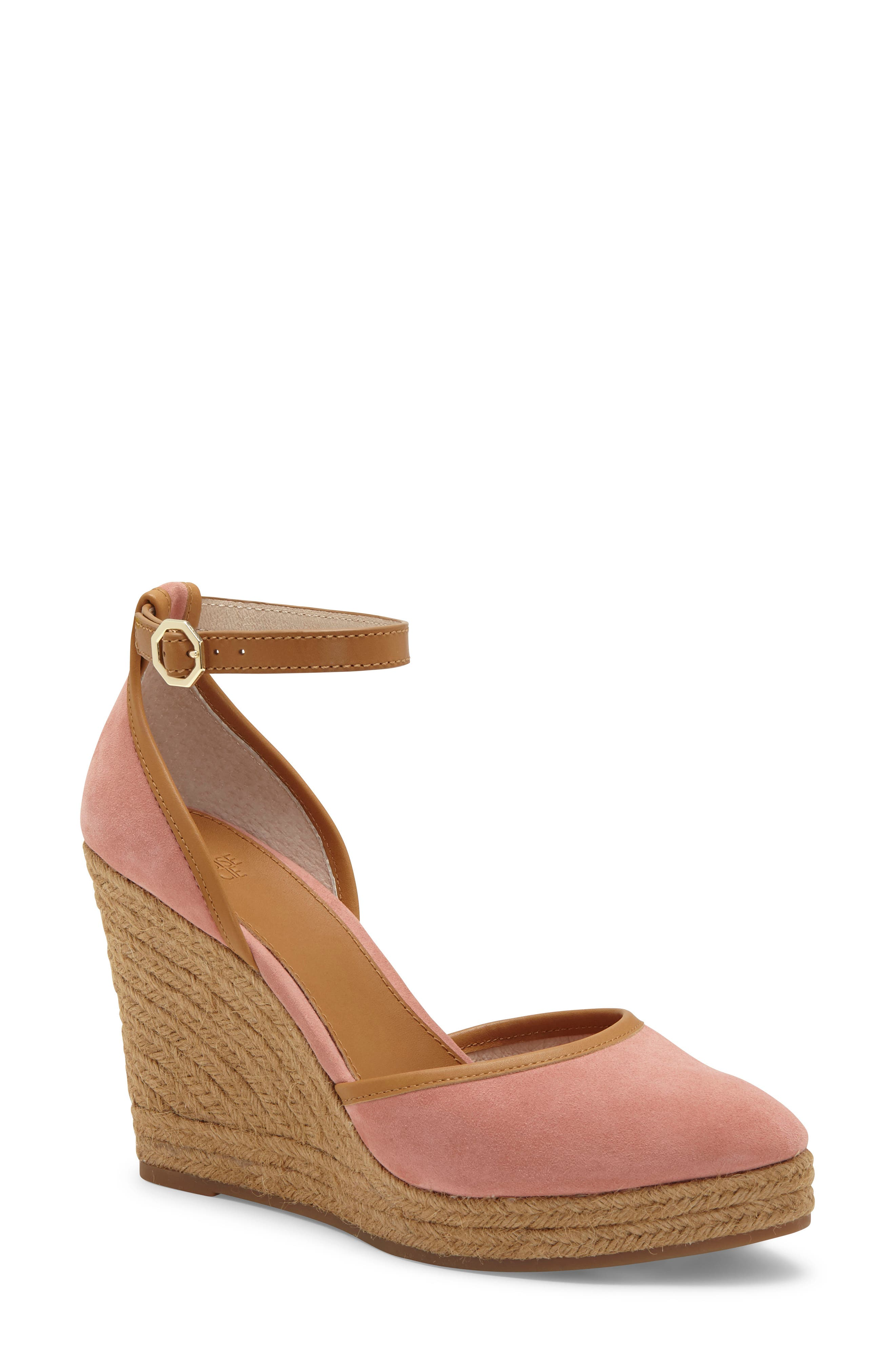 A lofty wedge espadrille with a leather ankle strap effortlessly juxtaposes earthy style and refined, casual appeal. Style Name: Louise Et Cie \\\'Palma\\\' Espadrille Wedge. Style Number: 986868. Available in stores.