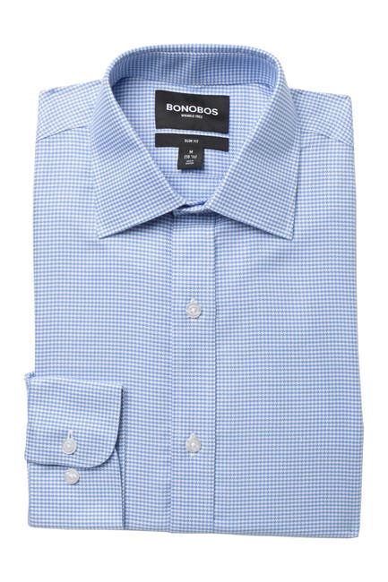 Image of Bonobos Daily Grind Slim Fit Houndstooth Dress Shirt