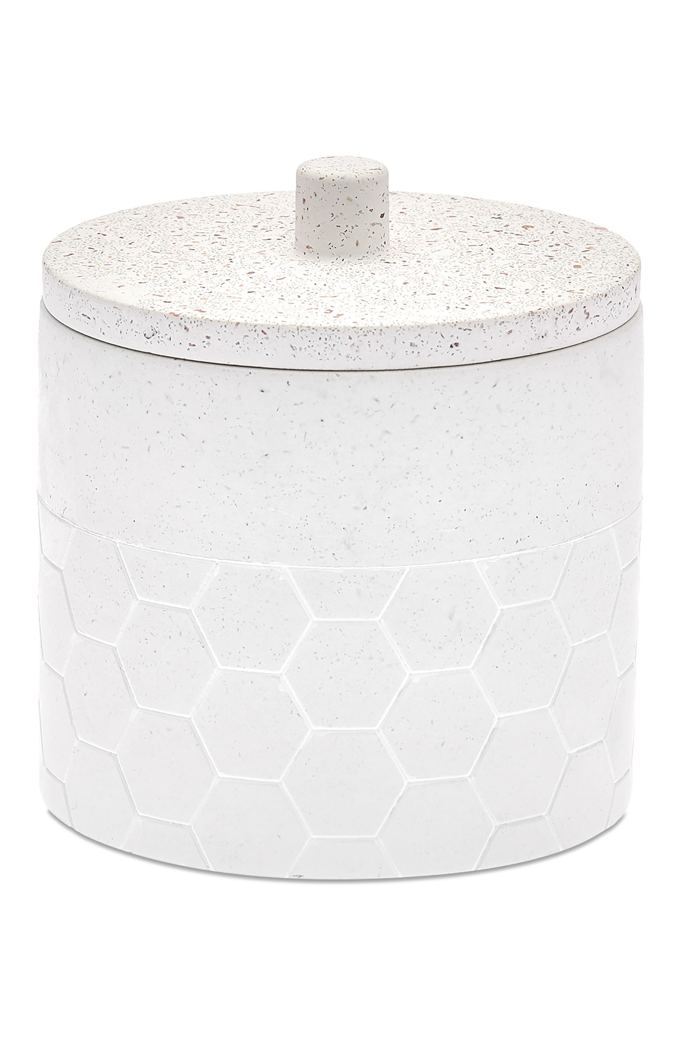 Terrazzo pebbles bring earthy texture and color to a cement jar that\\\'s perfect for hiding away cotton swabs or other necessities in your bathroom. Style Name: UGG Bathroom Jar. Style Number: 6052089. Available in stores.