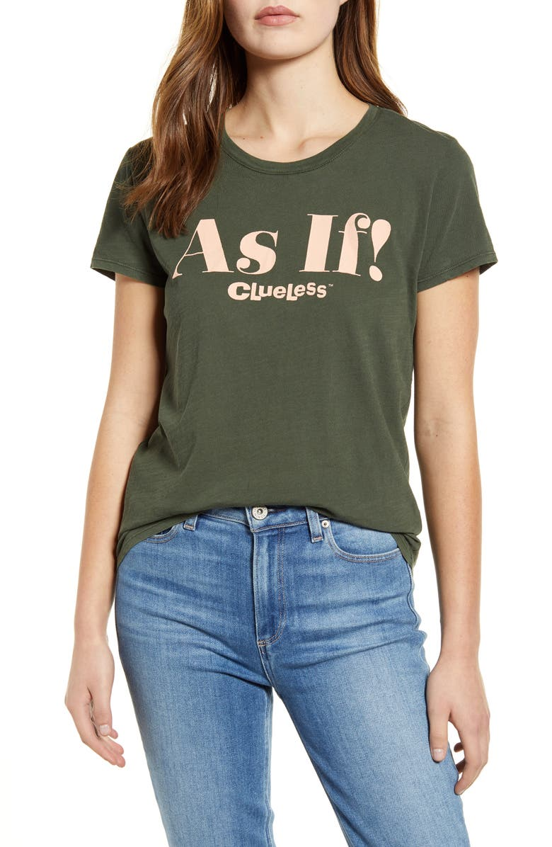 LUCKY BRAND As If Graphic Tee, Main, color, DUFFLE BAG