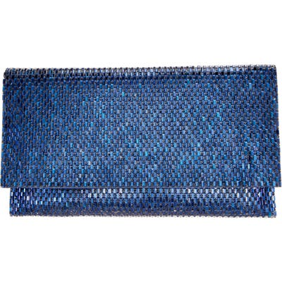 Nina Crystal Beaded Clutch - Blue