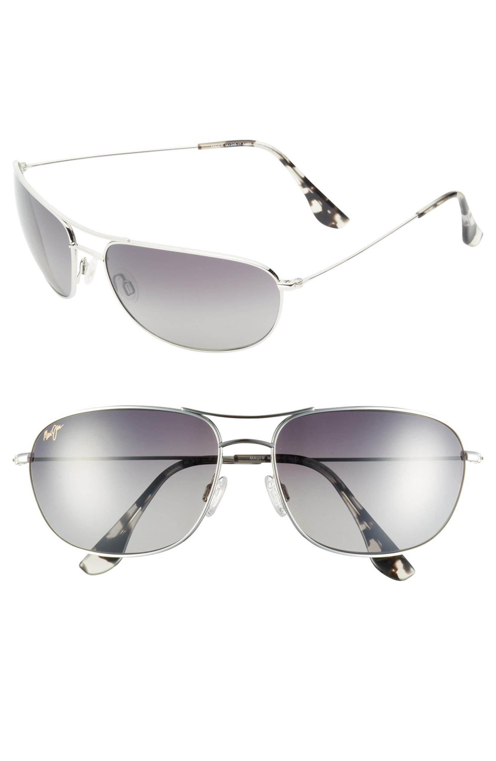 515335ea26a4 Maui Jim 'Hideaways - Maui Evolution®' 64mm Polarized Metal Sunglasses |  Nordstrom