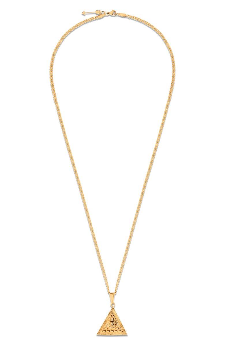 ELLIE VAIL Mara Pendant Necklace, Main, color, GOLD