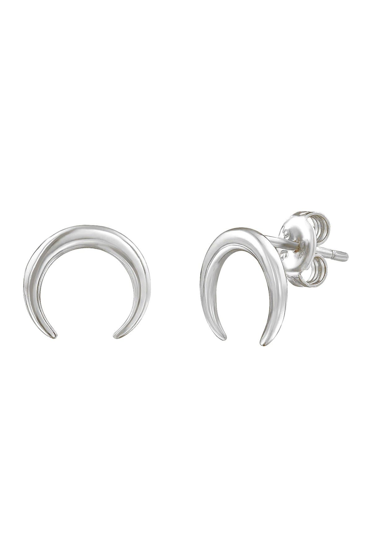 Savvy Cie Sterling Silver Horn Stud Earrings at Nordstrom Rack