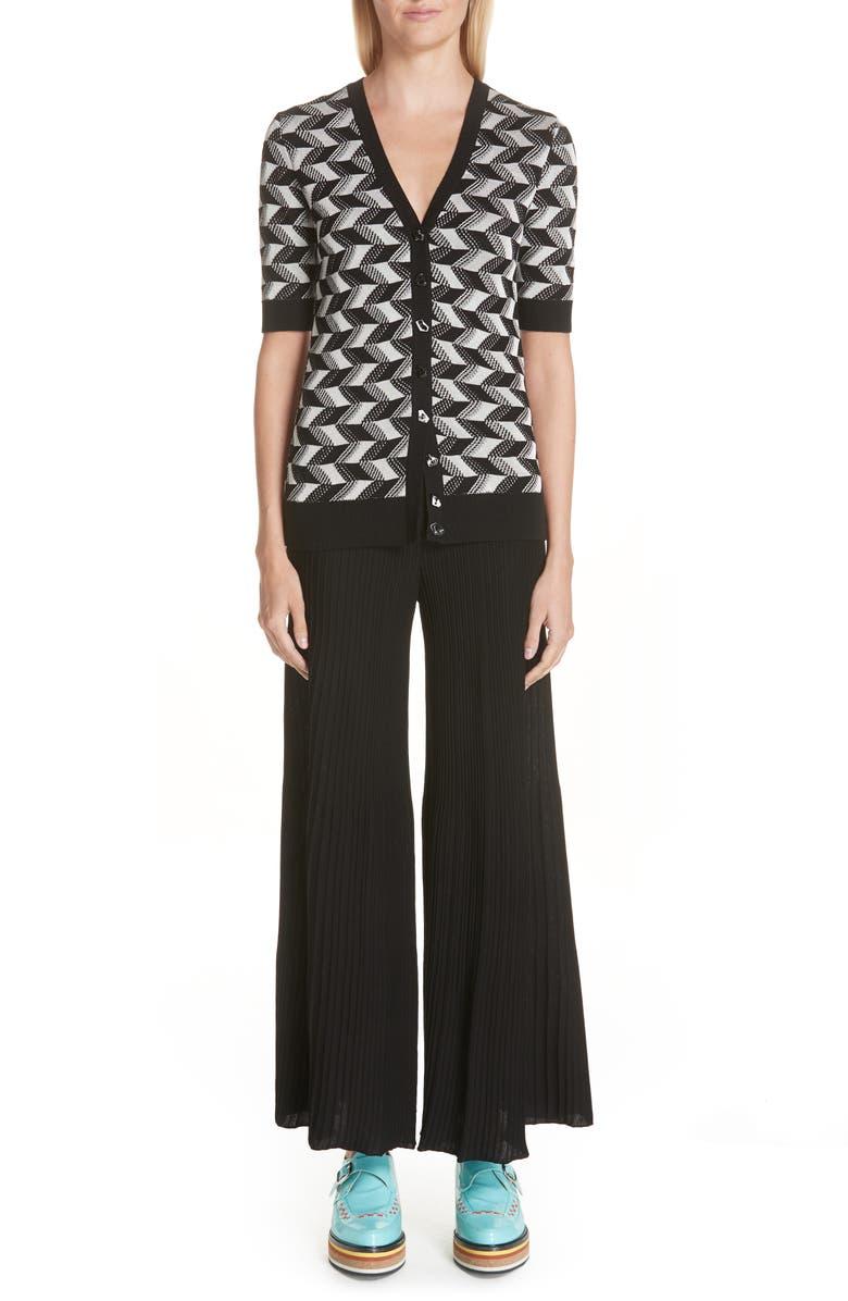 MISSONI Geometric Knit Cardigan, Main, color, 001