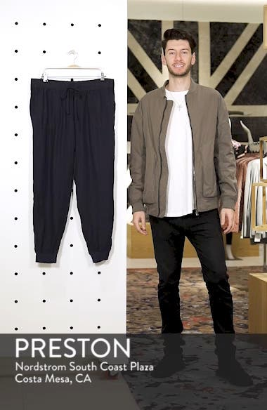 Drawstring Linen Joggers, sales video thumbnail