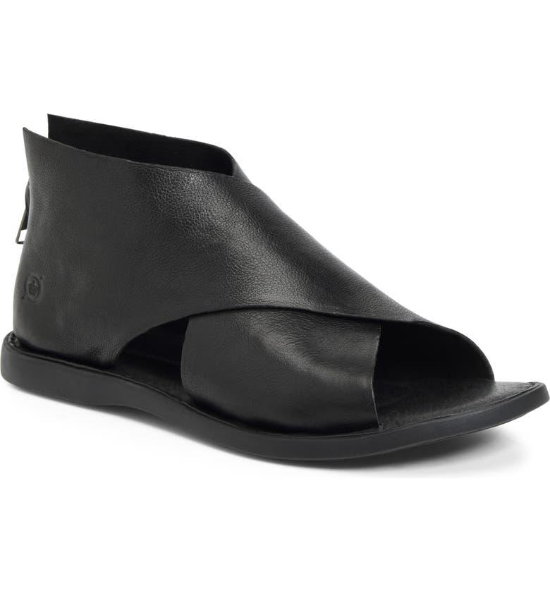 BØRN IWA Sandal, Main, color, BLACK LEATHER
