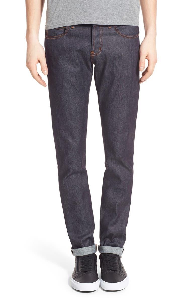 NAKED & FAMOUS DENIM Super Guy Skinny Fit Selvedge Jeans, Main, color, 401
