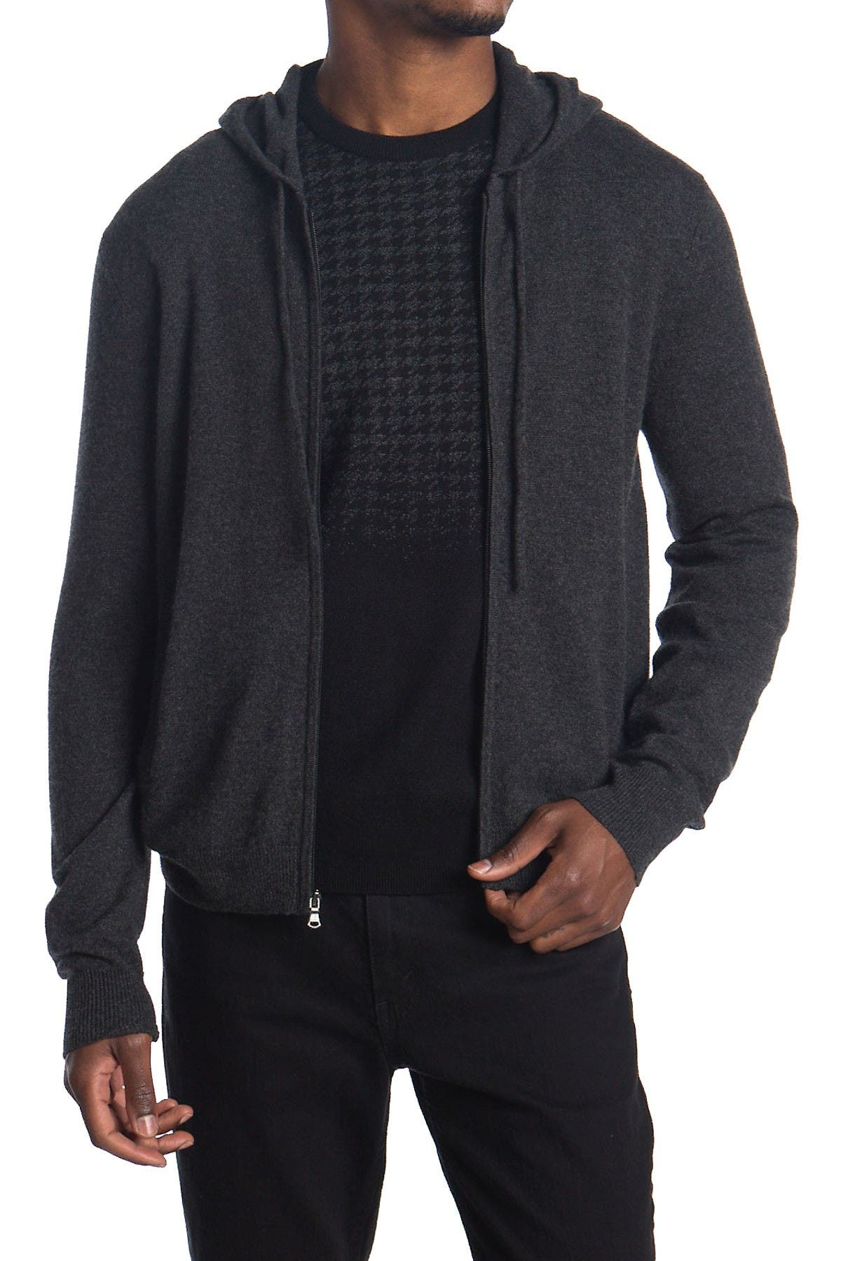 Image of AMICALE Cashmere Zip-Up Hoodie