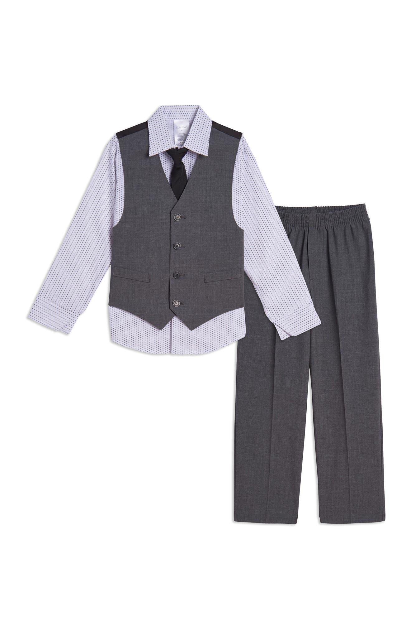 Image of Calvin Klein Bi Stretch Vest 4-Piece Set
