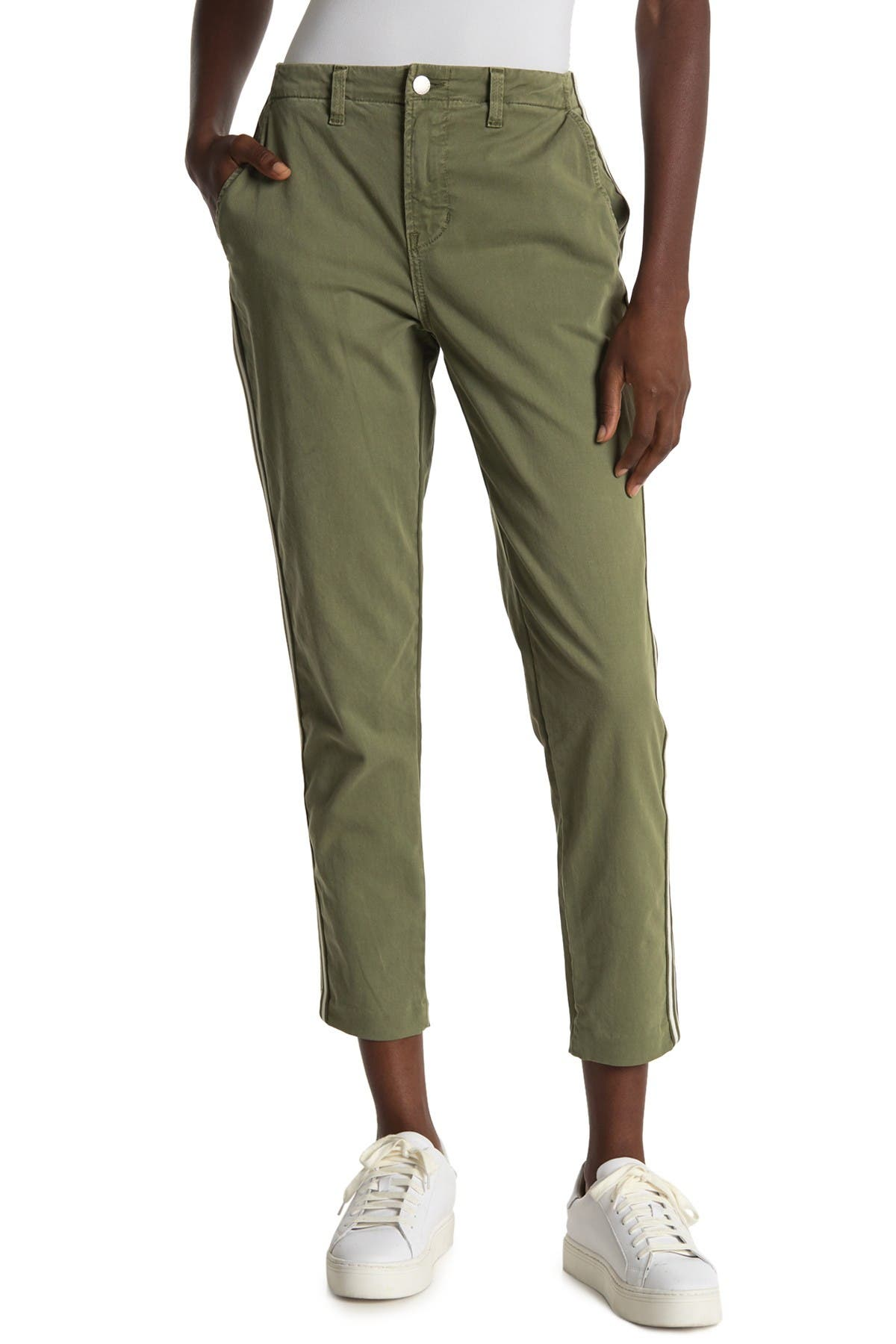 Image of L'AGENCE Jem Side Tape High Rise Trousers