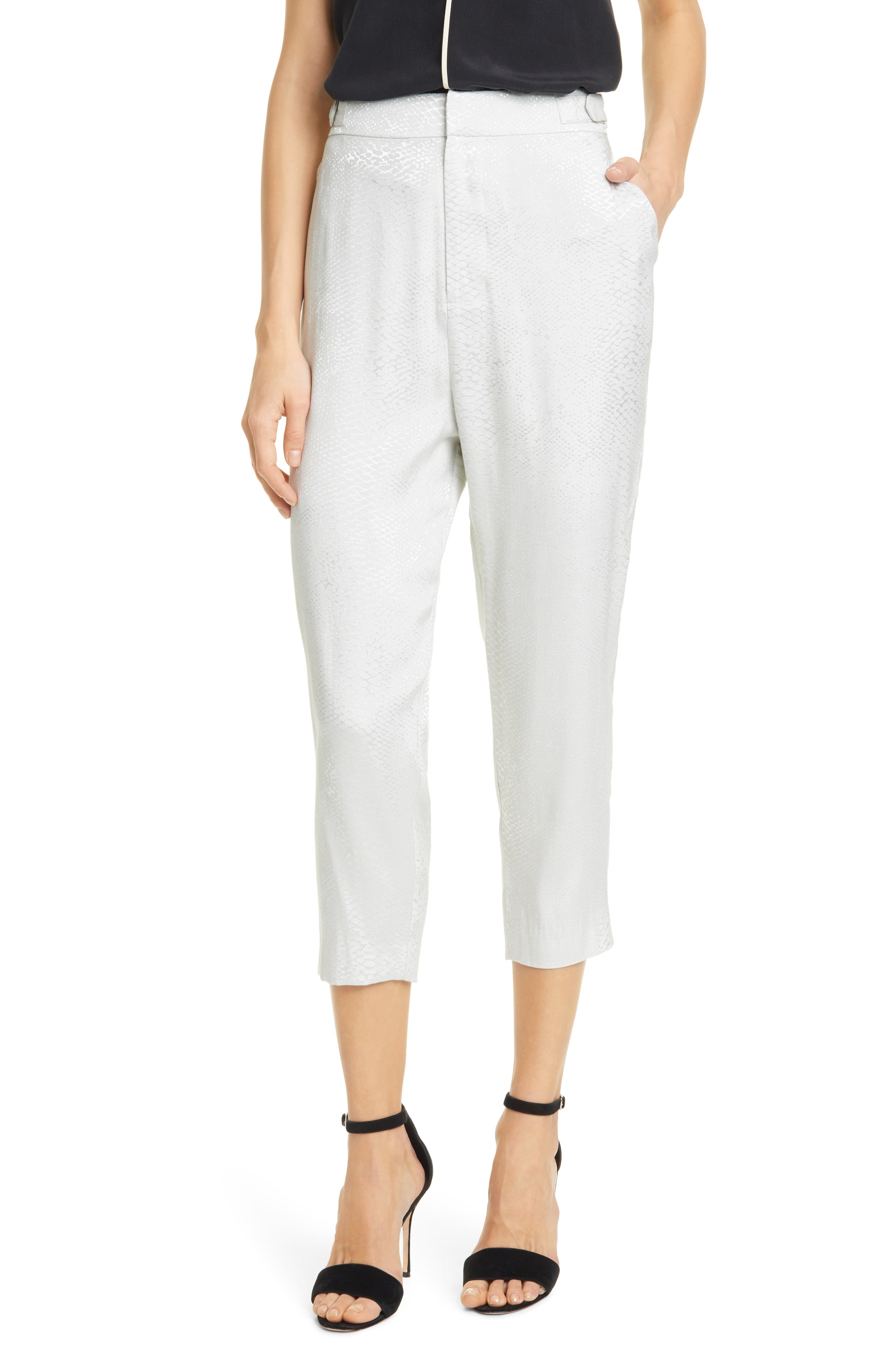 Image of Equipment Charlyne High Waisted Crop Trousers