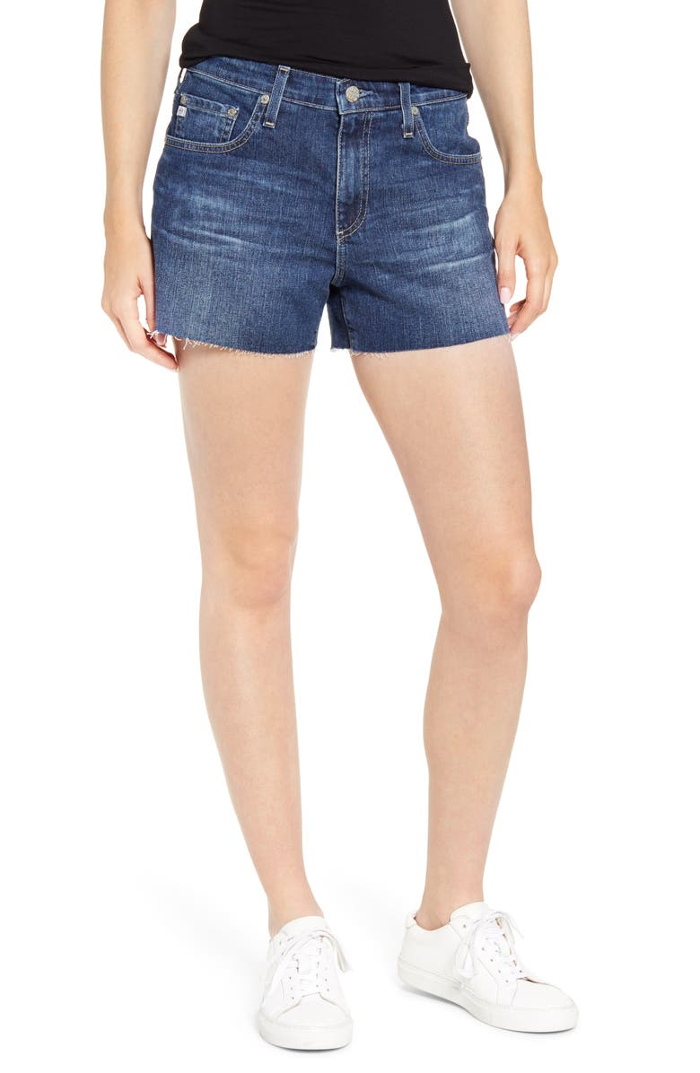 AG Hailey Boyfriend Cutoff Denim Shorts, Main, color, 453