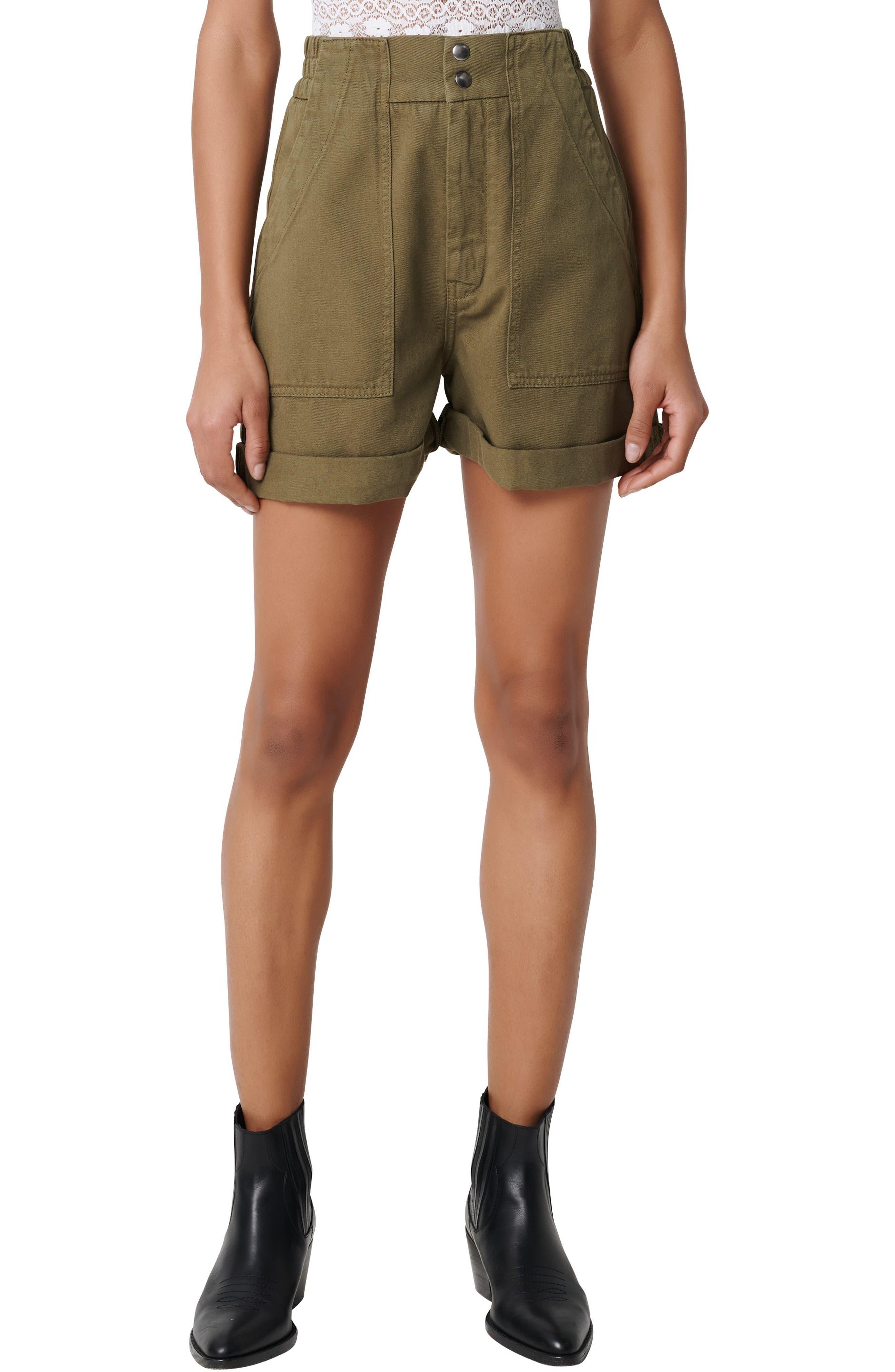 Women's Maje Idole Utility Shorts,  2 US / 34 FR - Green