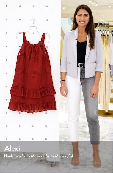 Celia Ruffle Detail Cotton Shift Dress, sales video thumbnail