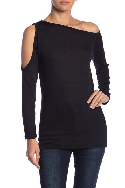 Image of Go Couture Solid Off-the-Shoulder Sweater