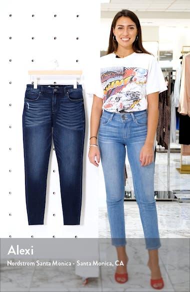 Donna High Waist Raw Hem Ankle Skinny Jeans, sales video thumbnail