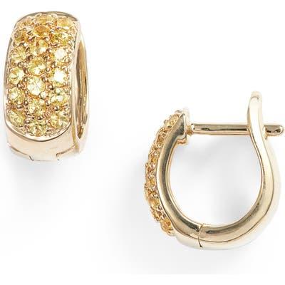 Dana Rebecca Designs Wide Gem Huggie Earrings