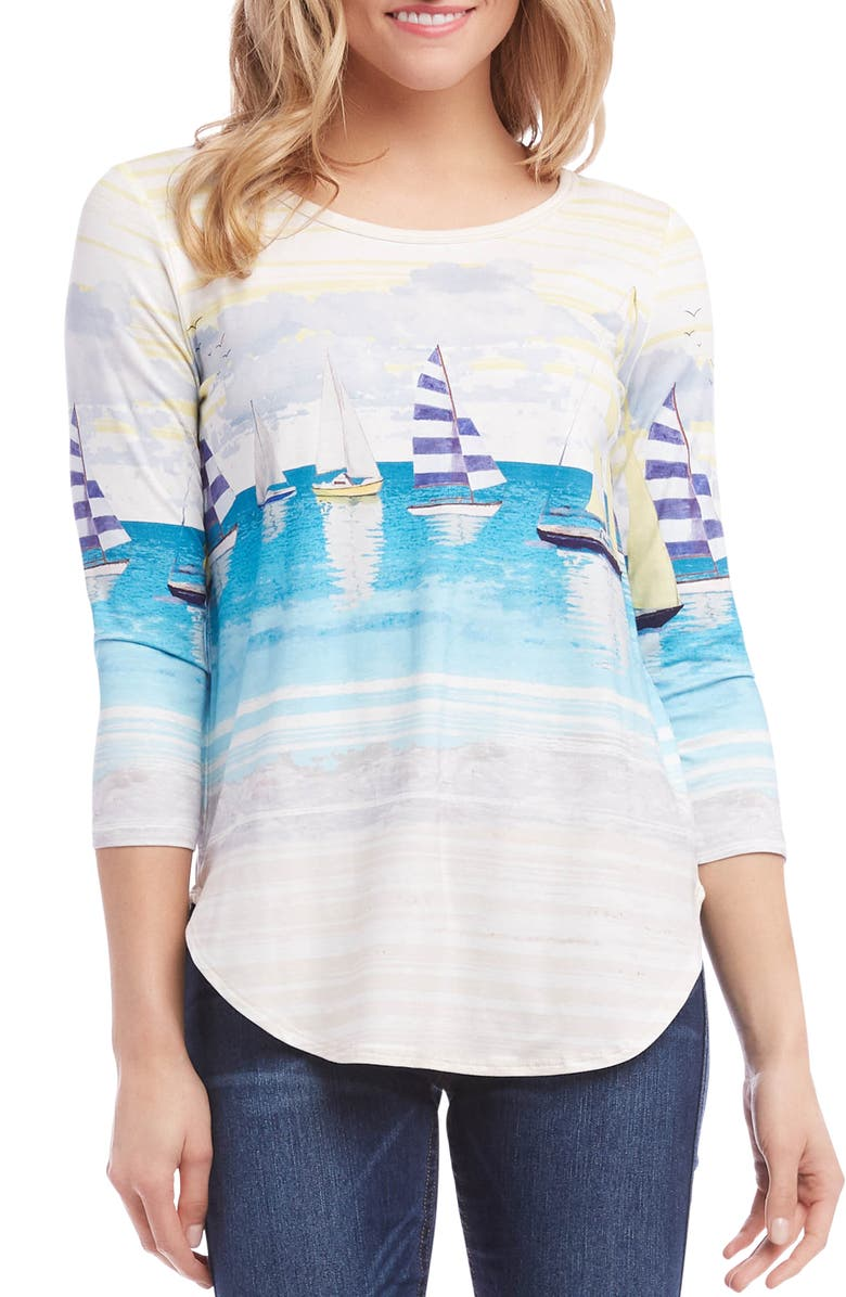 Karen Kane Shirttail Top