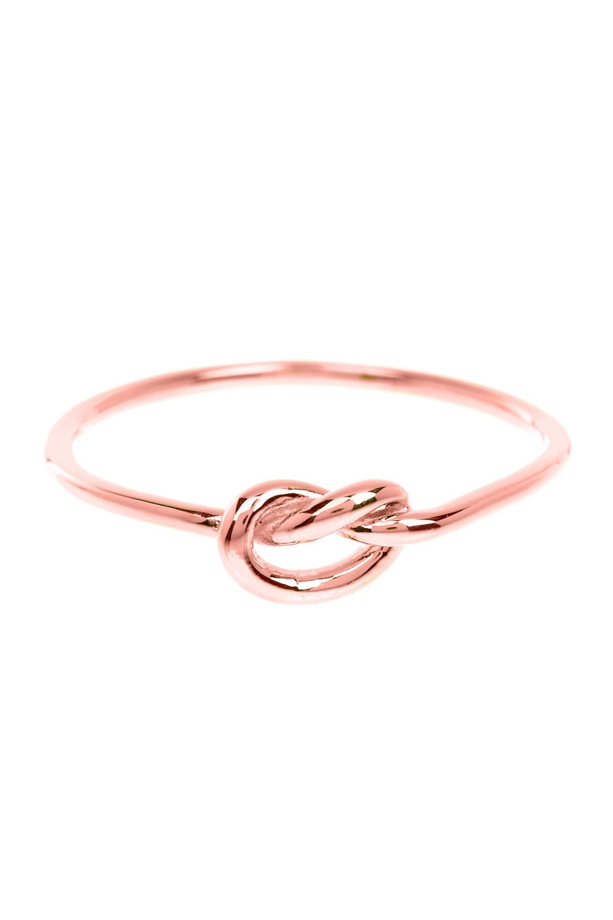 Image of Sterling Forever 14K Rose Gold Plated Thin Love Knot Ring