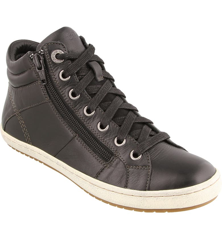 TAOS Union Sneaker, Main, color, BLACK LEATHER