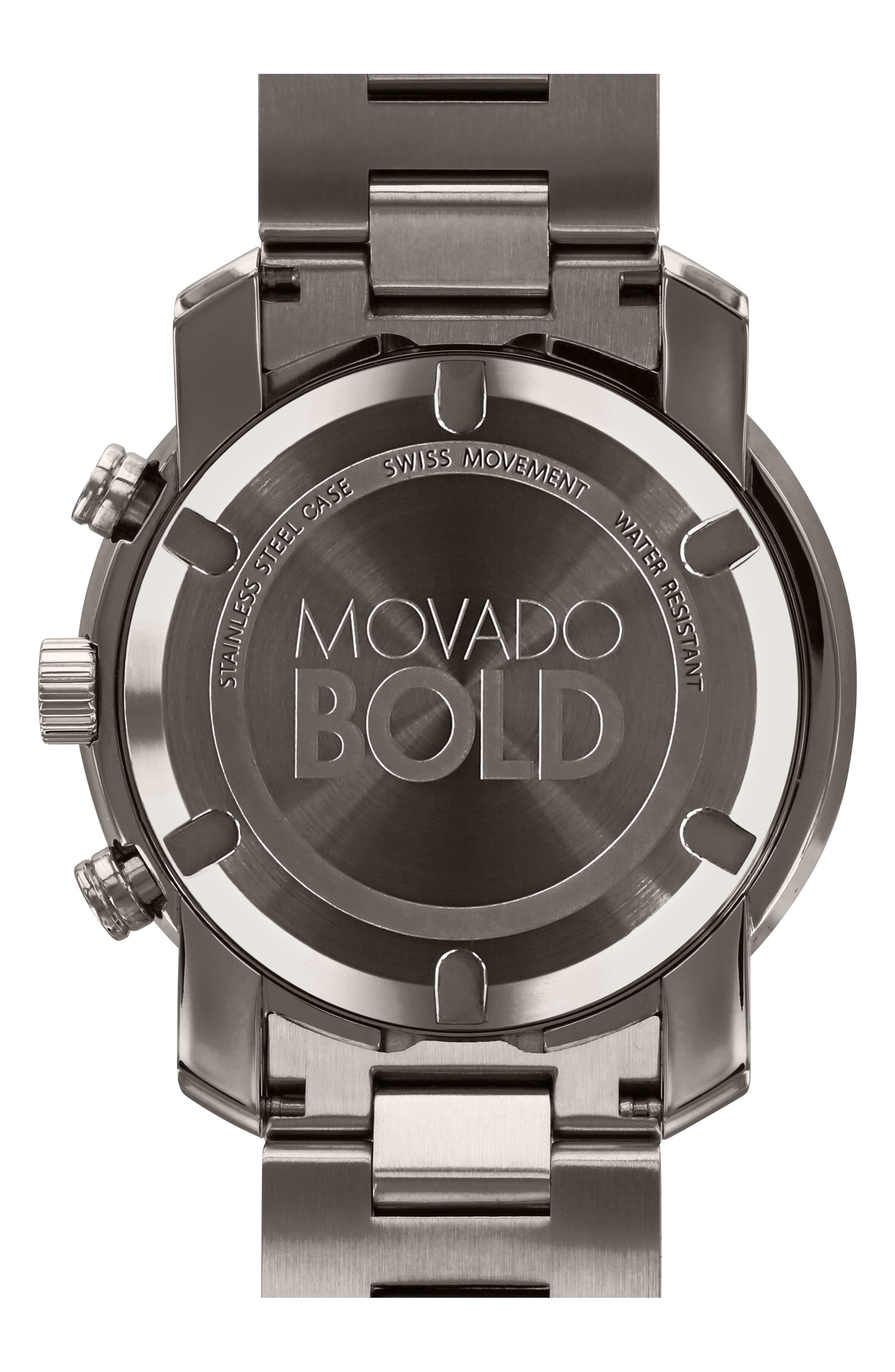 ,                             Bold Chronograph Bracelet Watch, 44mm,                             Alternate thumbnail 3, color,                             GUNMETAL
