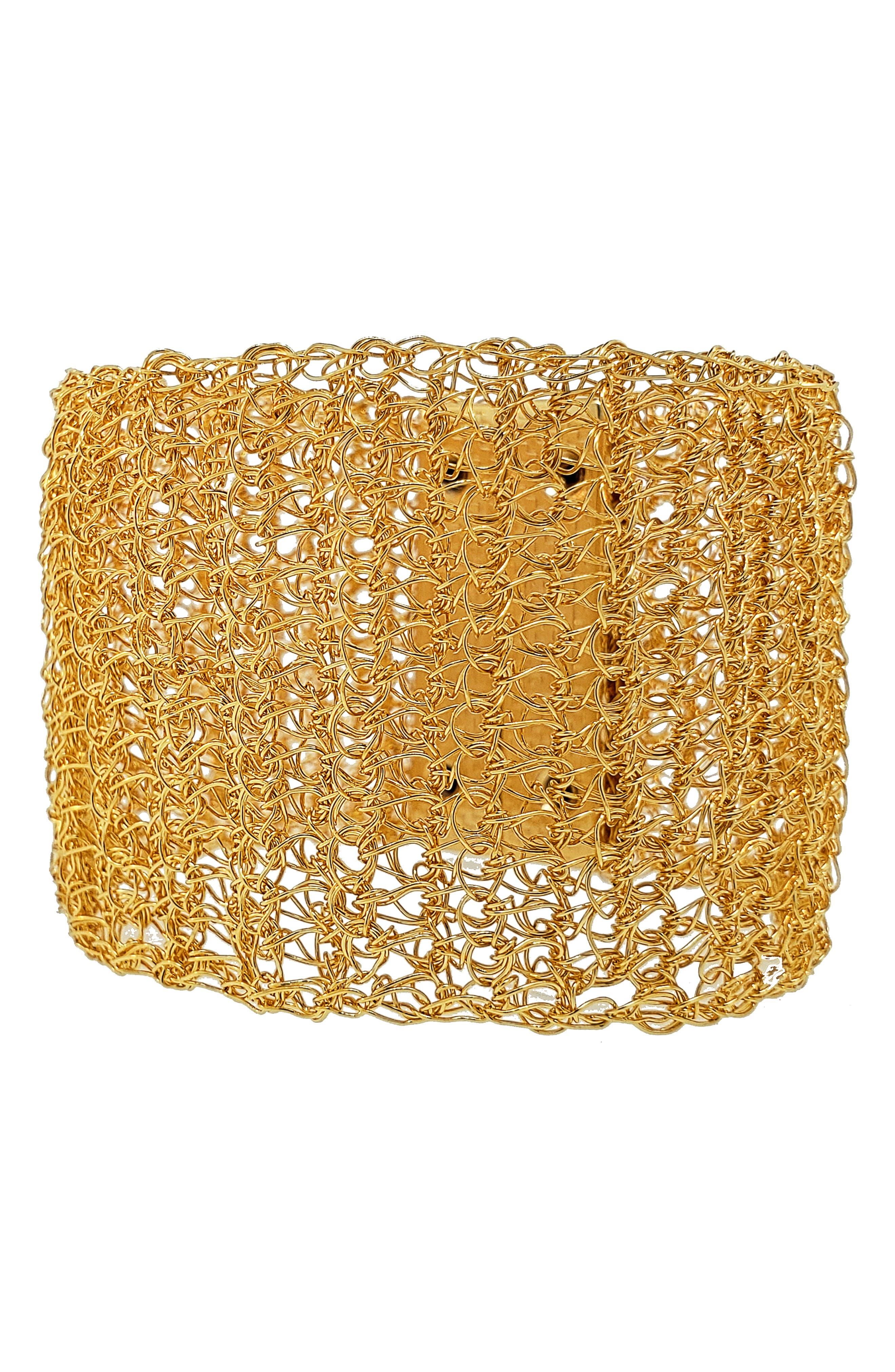 Crochet Metal Cuff Bracelet