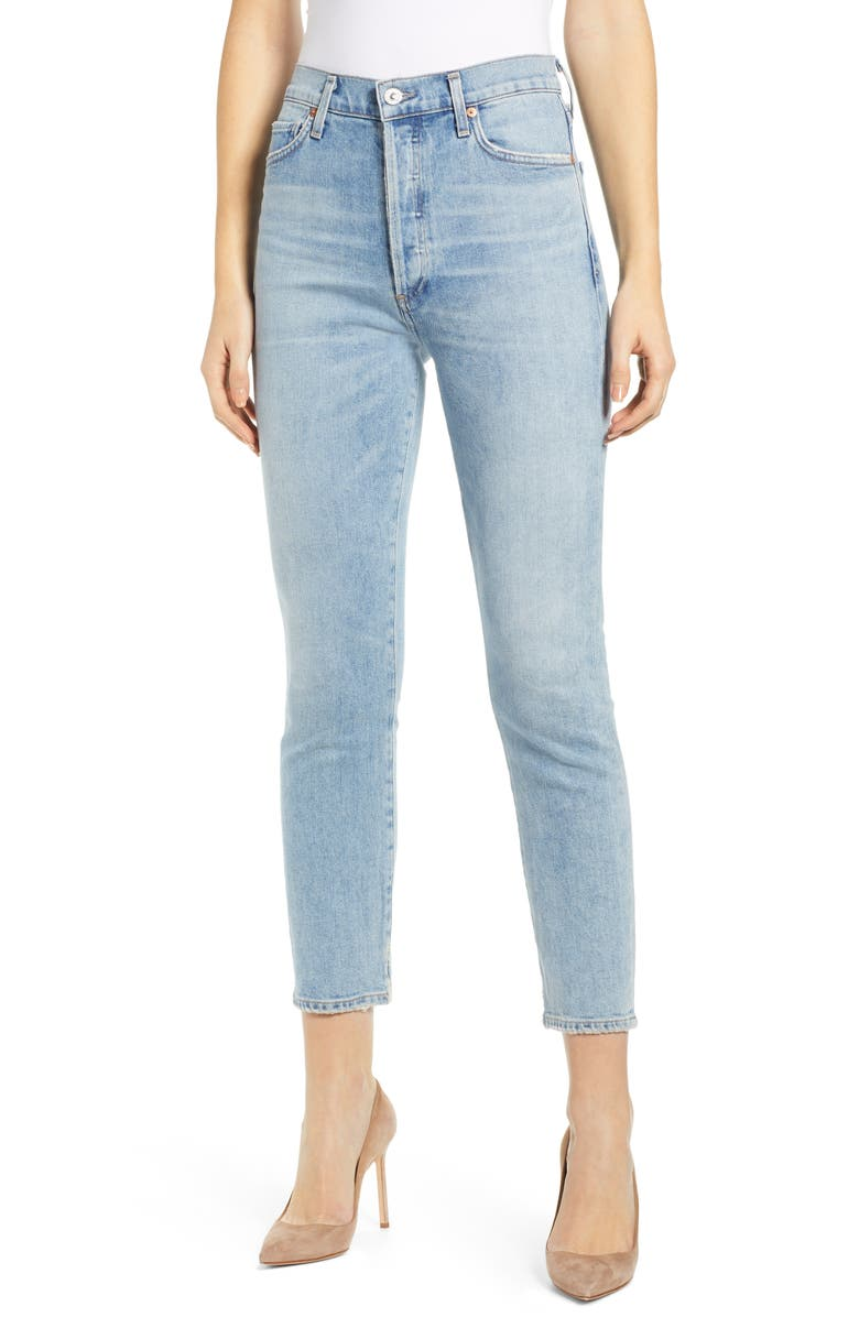 CITIZENS OF HUMANITY Olivia High Waist Crop Slim Jeans, Main, color, RENEW