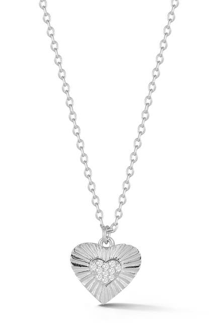 Image of Sphera Milano Sterling Silver Heart Necklace