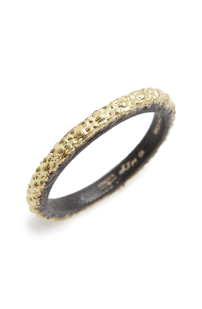 ARMENTA Old World Textured Stack Ring, Main, color, GOLD