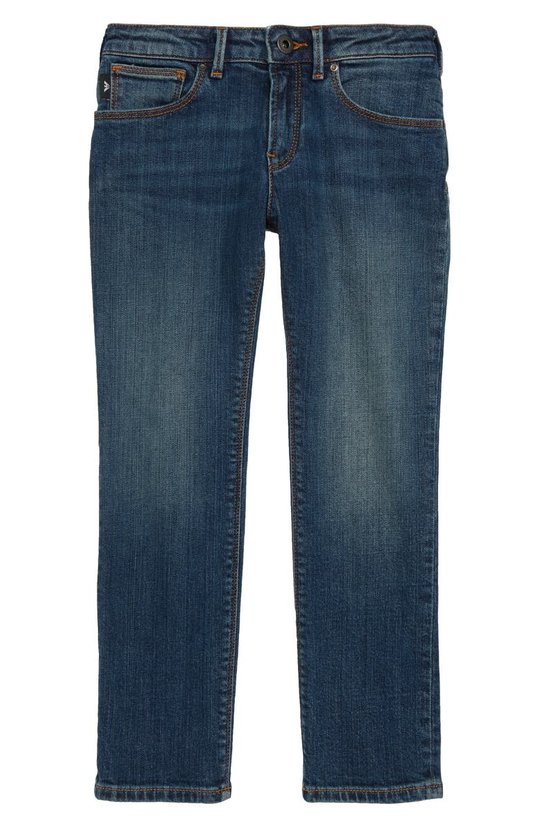 ARMANI JUNIOR Denim Jeans, Main, color, SOLID DARK BLUE