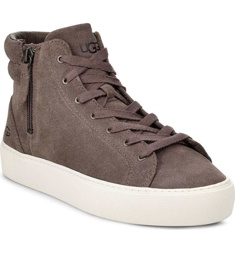 UGG<SUP>®</SUP> Olli High Top Sneaker, Main, color, MOLE SUEDE