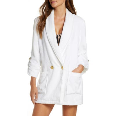 Veronica Beard Goldie Cover-Up Jacket, White