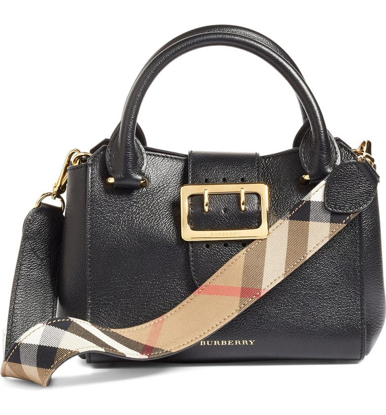 189349d5e04 Burberry Small Buckle Leather Satchel | Nordstrom