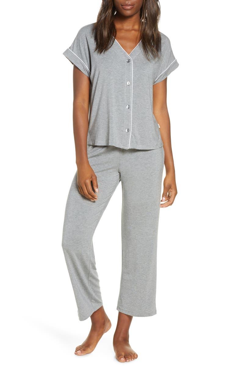 UGG<SUP>®</SUP> Addi Jersey Pajamas, Main, color, GREY HEATHER
