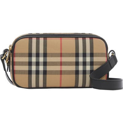 Burberry Micro Vintage Check Camera Bag - Beige