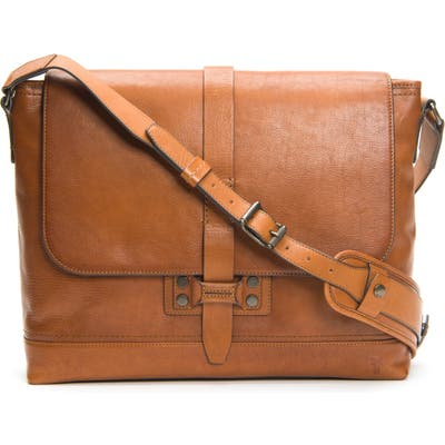 Frye Bowery Leather Messenger Bag - Brown