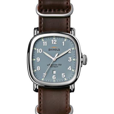Shinola The Guardian Leather Strap Watch, 41.5Mm X 4m