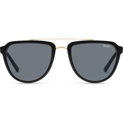 Quay Australia Mystic 55Mm Aviator Sunglasses - Black/ Smoke