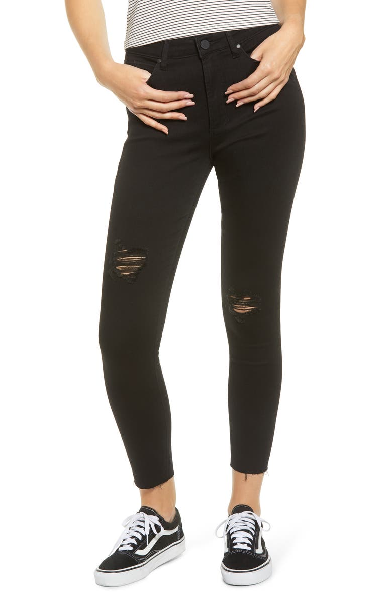 ARTICLES OF SOCIETY Heather High Waist Ankle Jeggings, Main, color, ELMHURST