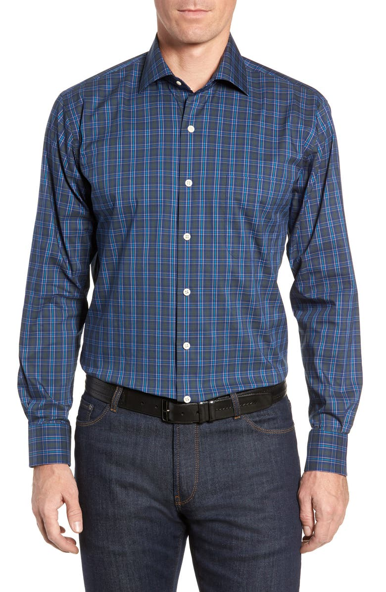 PETER MILLAR Waterford Plaid Sport Shirt, Main, color, 408